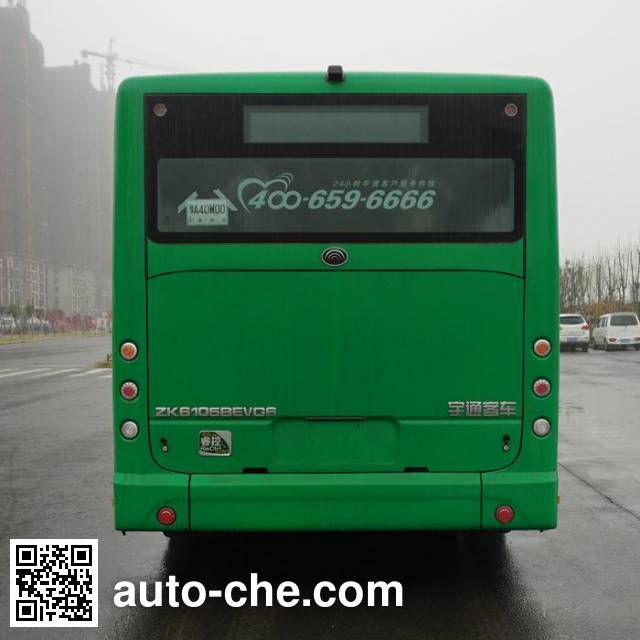 宇通牌ZK6105BEVG6纯电动城市客车