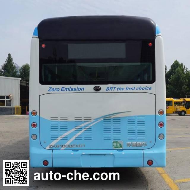 宇通牌ZK6180BEVG1纯电动铰接城市客车