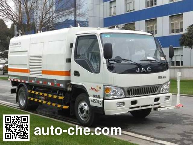 Zoomlion ZLJ5070GQXHFE4 highway guardrail cleaner truck