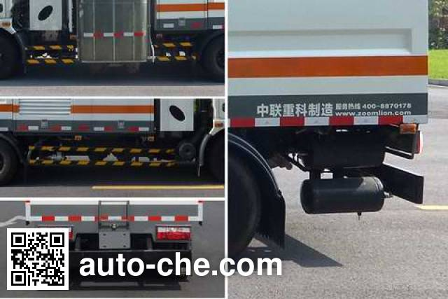 Zoomlion ZLJ5080GQXDFE5NG highway guardrail cleaner truck