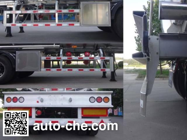 Minghang ZPS9406GRY flammable liquid aluminum tank trailer