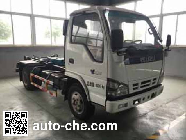 Zhongqi ZQZ5071ZXX detachable body garbage truck