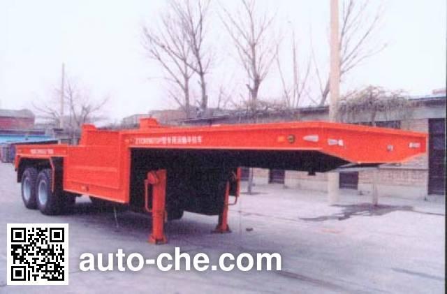 张拖牌ZTC9280TDP低平板专用运输半挂车