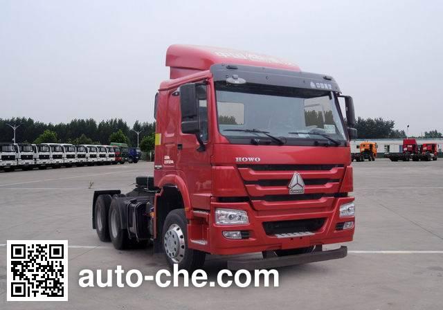 Sinotruk Howo ZZ4257N3247D1BM methanol/diesel dual fuel tractor unit