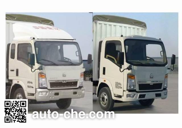 豪泺牌ZZ5047CPYC3413D144蓬式运输车
