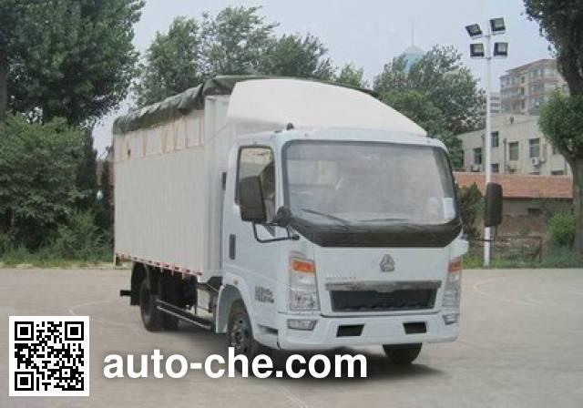 Sinotruk Howo ZZ5047CPYC3414D137 soft top box van truck