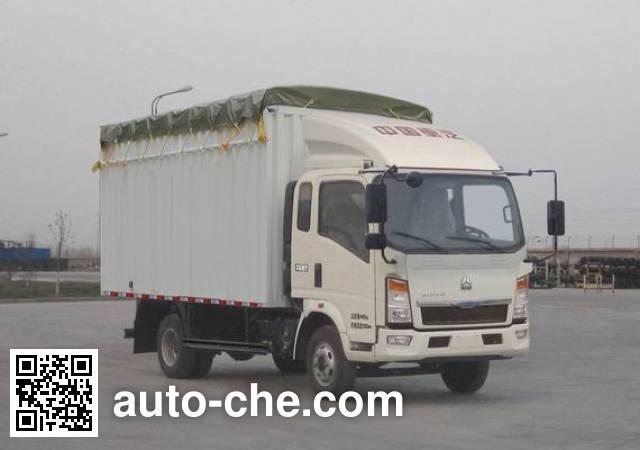 Sinotruk Howo ZZ5047CPYD3414D144 soft top box van truck