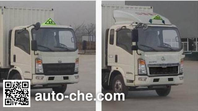 Sinotruk Howo ZZ5047XRQF341CE145 flammable gas transport van truck