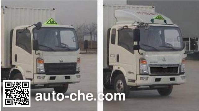 Sinotruk Howo ZZ5047XRYF341CE145 flammable liquid transport van truck