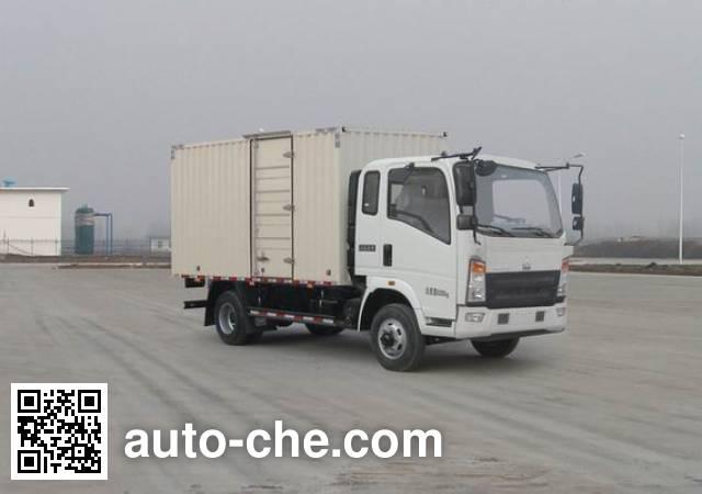 豪沃牌ZZ5047XXYF331BE145厢式运输车