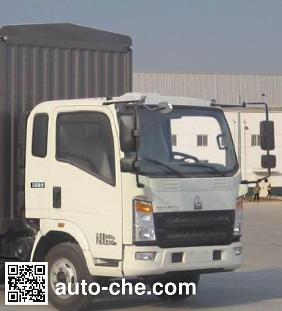 豪沃牌ZZ5067CCYF341BD165仓栅式运输车