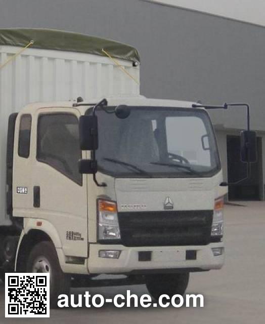Sinotruk Howo ZZ5067CPYF341BD1Y65 soft top box van truck