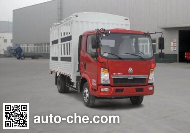 豪沃牌ZZ5087CCYD3414D183仓栅式运输车