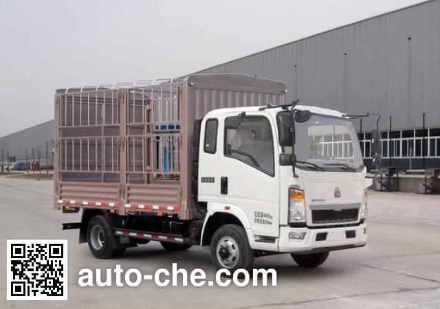 豪沃牌ZZ5087CCYF3315E183仓栅式运输车