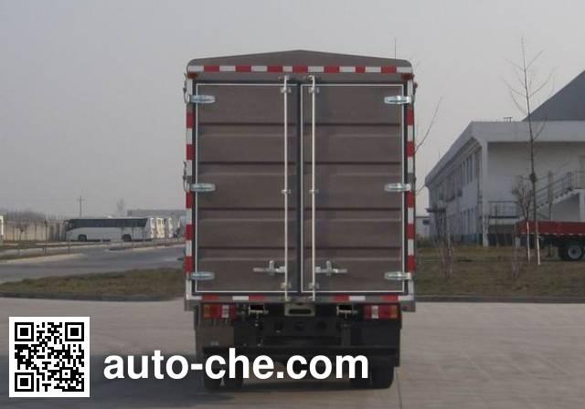 豪沃牌ZZ5087CCYF341BD183仓栅式运输车