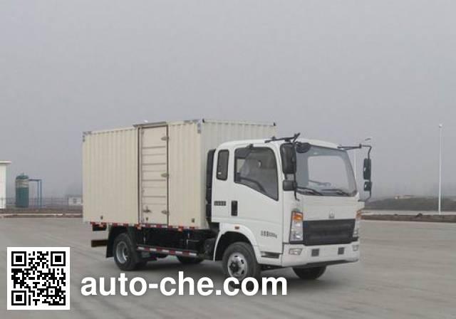 豪沃牌ZZ5087XXYF331CE183厢式运输车