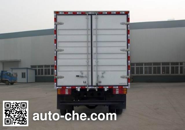 豪沃牌ZZ5087XXYF381CD183厢式运输车