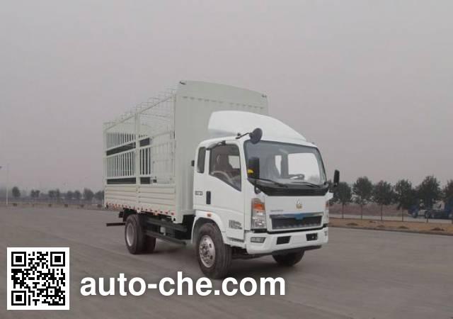 豪沃牌ZZ5107CCYG3415D1仓栅式运输车