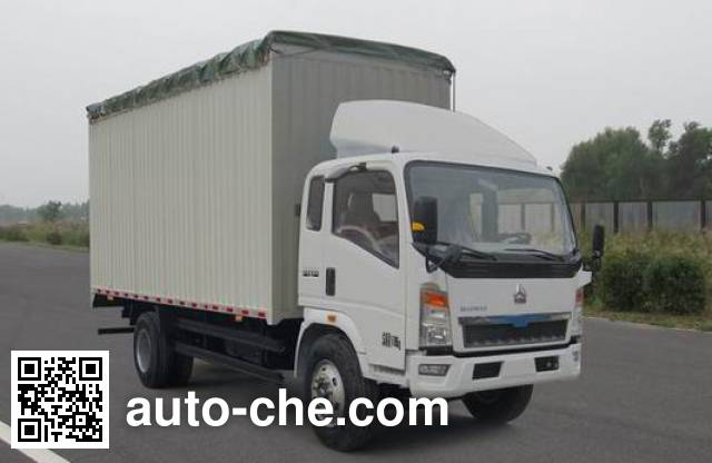 Sinotruk Howo ZZ5167CPYG3415C1 soft top box van truck
