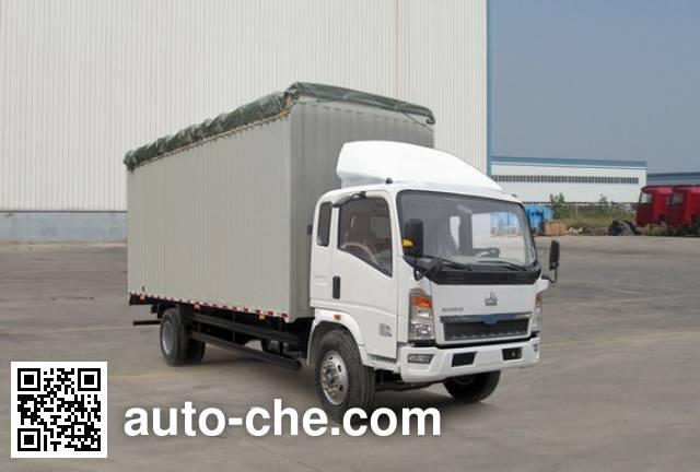 豪泺牌ZZ5127CPYD4715D1蓬式运输车