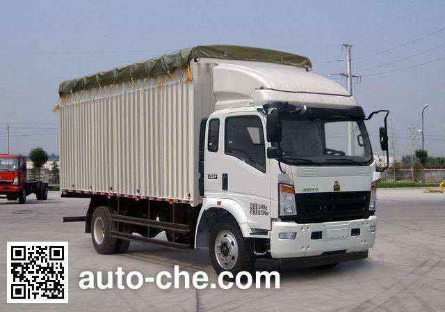 豪泺牌ZZ5137CPYG521CD1蓬式运输车
