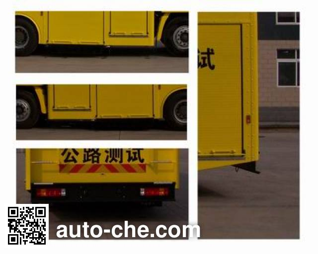 Sinotruk Howo ZZ5157XLHN4618C sideway force coefficient routine investigation machine (SCRIM)
