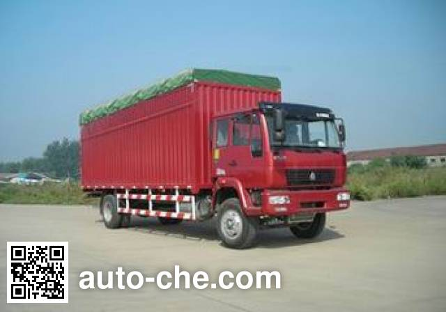 Huanghe ZZ5164XXBG4215C1 soft top box van truck