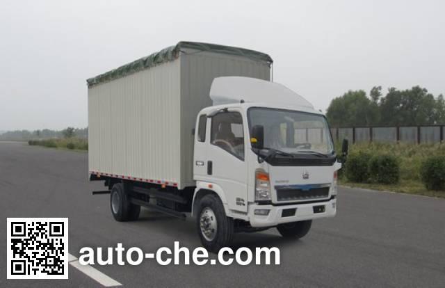 豪泺牌ZZ5167CPYG3415D1蓬式运输车