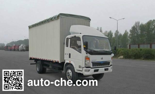 Sinotruk Howo ZZ5167CPYG3815D1 soft top box van truck