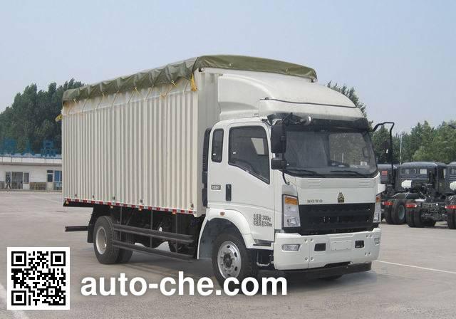 Sinotruk Howo ZZ5167CPYG471CD1 soft top box van truck