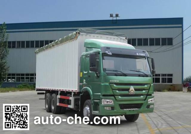 Sinotruk Howo ZZ5257CPYM3847D1 soft top box van truck