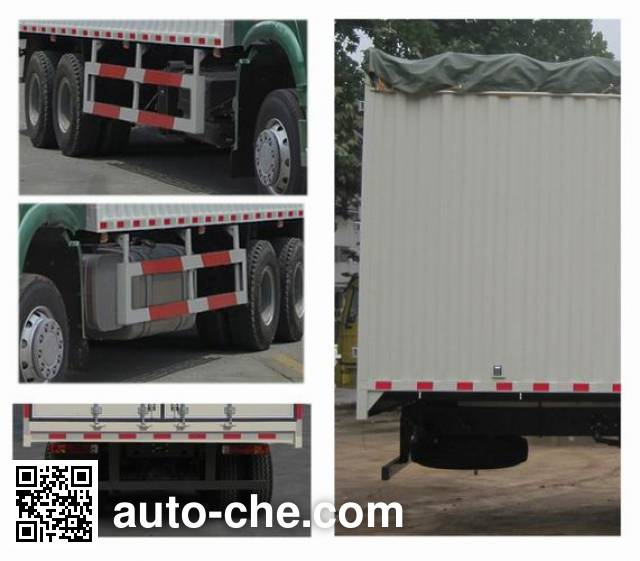 Sinotruk Howo ZZ5257CPYM4347D1 soft top box van truck