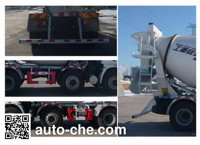 豪沃牌ZZ5257GJBH27CCE1混凝土搅拌运输车