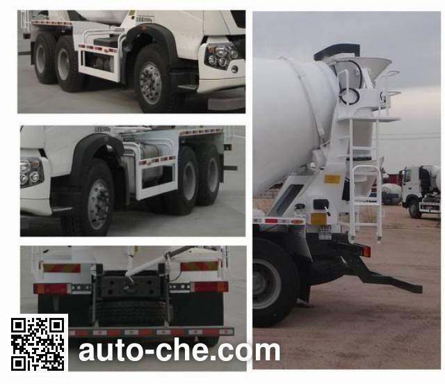 豪沃牌ZZ5257GJBN324GD1混凝土搅拌运输车