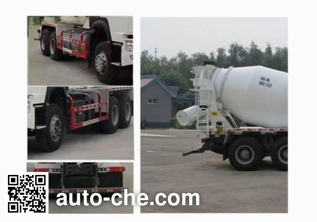 豪沃牌ZZ5257GJBN4047E1L混凝土搅拌运输车