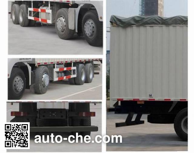 Sinotruk Sitrak ZZ5316CPYN386MD1 soft top box van truck
