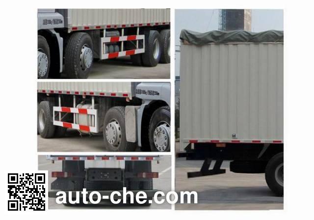Sinotruk Sitrak ZZ5316CPYN466GD1 soft top box van truck