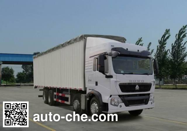 豪泺牌ZZ5317CPYN386GD1蓬式运输车