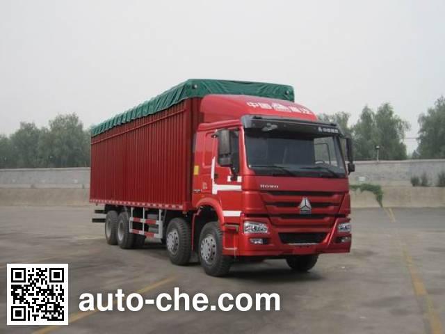 Sinotruk Howo ZZ5317CPYN4667D1B soft top box van truck
