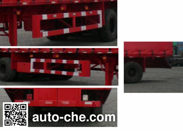 Zhongshang Auto ZZS9401XXY curtainsider trailer