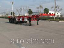 开乐牌AKL9402TJZ型伸缩式集装箱运输半挂车