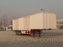 Liangshan Yuantian box body van trailer