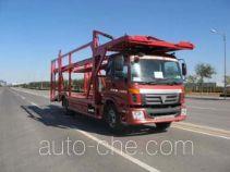 Huanda BJQ5130TCL car transport truck
