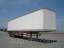 Huanda BJQ9400XXY box body van trailer