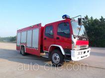 银河牌BX5130TXFHX30W型化学洗消消防车