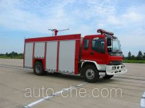 银河牌BX5140TXFFE34B型干粉-二氧化碳联用消防车