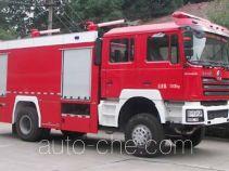 银河牌BX5180TXFGF40S型干粉消防车