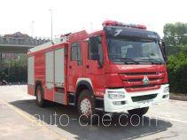 银河牌BX5190GXFPM80/HW4型泡沫消防车
