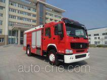Yinhe BX5190GXFSG80/HW4 fire tank truck