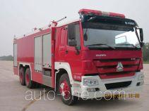 银河牌BX5230TXFGF60/HW型干粉消防车